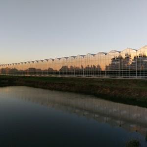 zachód słońca nad halą